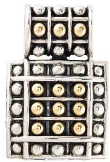 Lagos Caviar Square Dot Pendant