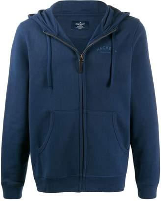 Hackett jersey logo hooded sweatshirt
