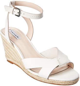 Tahari Jessica Leather Wedge Sandal
