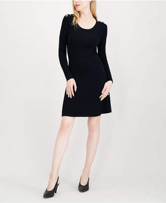 Maison Jules Ribbed Sweater Dress