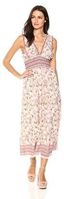 Max Studio Women's Sleeveless Smocked Midi Dress