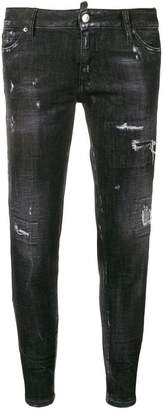 DSQUARED2 low rise ripped skinny jeans
