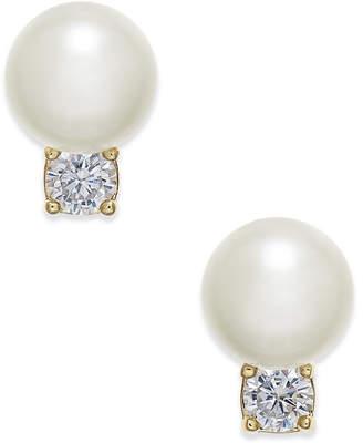 Kate Spade Gold-Toe Pavé & Imitation Pearl Stud Earrings