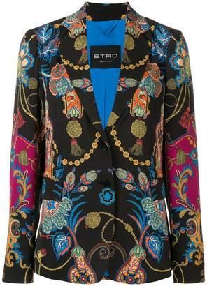 Etro mixed print blazer