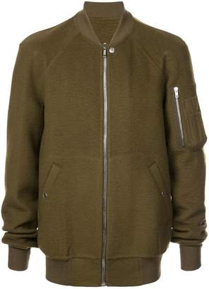 Rick Owens long length bomber jacket