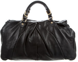 Miu Miu Miu Miu Pleated Leather Handle Bag