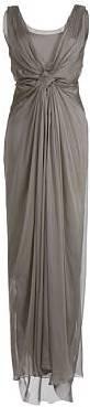 Alberta Ferretti Taupe Silk Chiffon Evening Dress