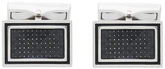 Canali square embellished cufflinks