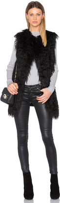 Theory Nyma Faux Fur V Vest $495 thestylecure.com