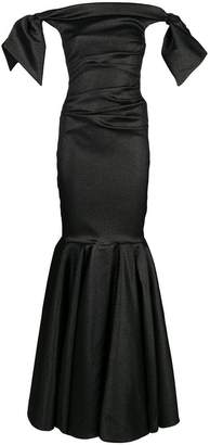 Talbot Runhof lamé evening dress