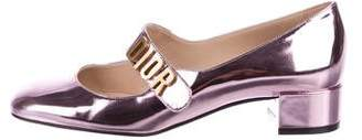 Christian Dior Baby-D Patent Leather Round-Toe Pumps