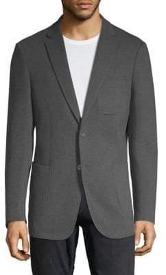 Saks Fifth Avenue BLACK Knit Two-Button Blazer