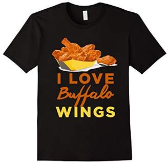 Buffalo David Bitton I Love Chicken Wings BBQ Roast Grilling T-Shirt