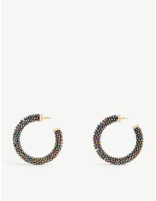 BaubleBar Danasia beaded hoop earrings