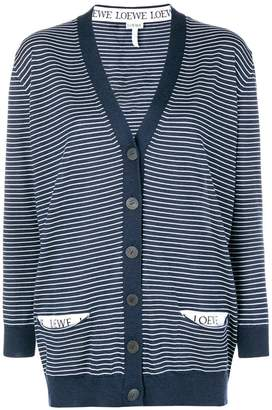 Loewe striped V-neck cardigan