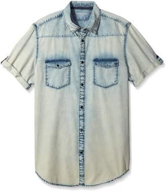 Calvin Klein Jeans Men's Short Sleeve o Button Down Shirt