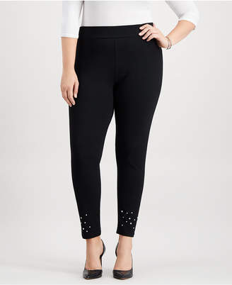 JM Collection Plus Size Studded Leggings, Created for Macy's