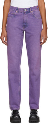 Martine Rose Purple Straight-Leg Jeans