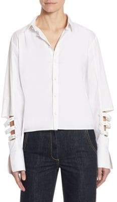 Each X Other Cutout Poplin Cotton Blouse