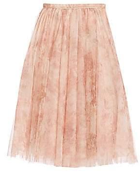 Jenny Yoo Women's Lucy Printed Tulle Midi Skirt