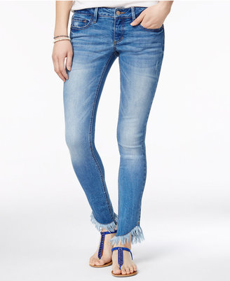 Dollhouse Juniors' Fringed Skinny Jeans $49 thestylecure.com
