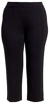Misook Misook, Plus Size Women's Tailored-Fit Cropped Ankle Pants