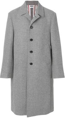 Thom Browne Long Relaxed Bal Collar Overcoat