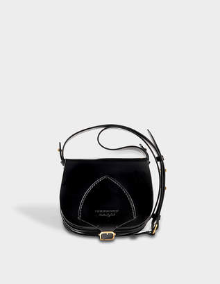 Burberry Mini Satchel Bag in Cobalt Blue Bridle Leather