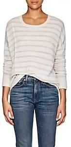 ATM Anthony Thomas Melillo Women's Striped Cashmere Sweater - White