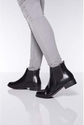 Quiz Wide Fit Diamante Chelsea Ankle Boots