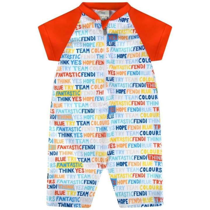 FendiBaby Boys UV Protection Swimsuit Onesie (UPF 50+)
