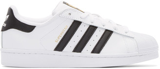 adidas Originals White & Black Superstar Sneakers $80 thestylecure.com