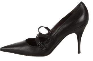 Philosophy di Alberta Ferretti Leather Pointed-Toe Pumps