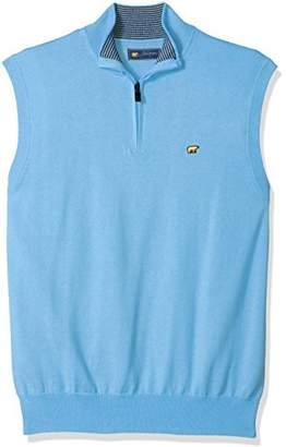 Jack Nicklaus Men's Textured Solid Sleeveless 1/4-Zip Sweater Vest