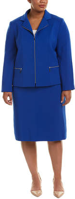 Tahari by Arthur S. Levine Tahari Asl Plus 2Pc Jacket & Skirt Set
