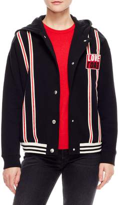 Sandro Love Cotton Varsity Jacket