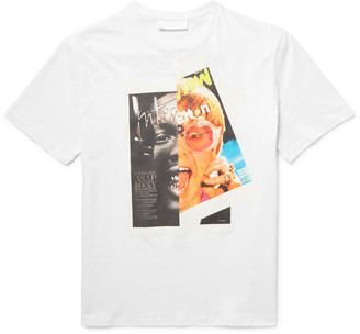 Neil Barrett Rocky Elton Printed Cotton-Jersey T-Shirt $310 thestylecure.com