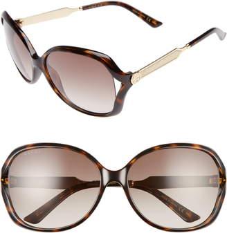 38b972f9219 Gucci 60mm Open Temple Oval Sunglasses
