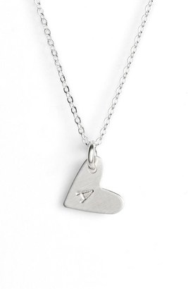 Women's Nashelle Sterling Silver Initial Heart Pendant Necklace $60 thestylecure.com