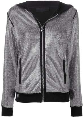 Philipp Plein Crystal zipped hoodie
