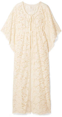 Anna Sui Climbing Orchids Guipure Lace Robe - Ivory