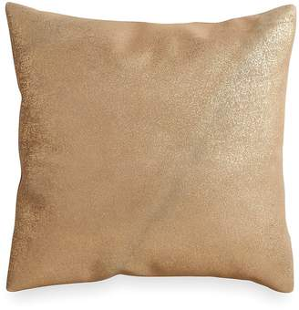 Donna Karan Opal Essence Metallic Printed Leather Decorative Pillow, 16 x 16