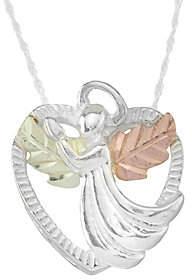 Angel Heart Black Hills Pendant w/ Chain, Sterling/12K Gold