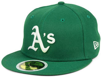 New Era Boys' Oakland Athletics Authentic Collection 59FIFTY Fitted Cap