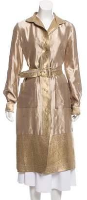 Prada Silk Jacquard Coat