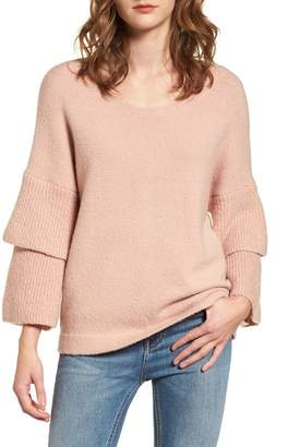 French Connection Urban Flossy Ruffle Sleeve Sweater