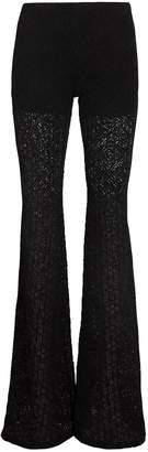 Nightcap Clothing Diamond Lace Bell Black Pants