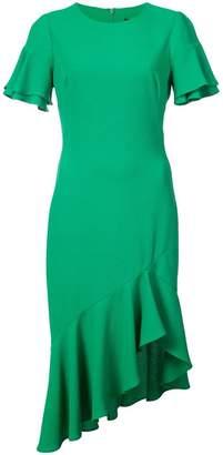 Black Halo ruffled asymmetric dress