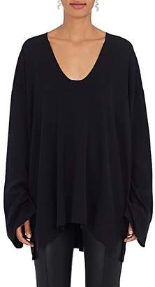 The Row Women's Lesli Silk-Cotton Oversized Sweater