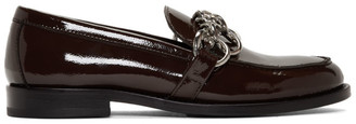 Hope Brown Patent Patty Chain Loafers
